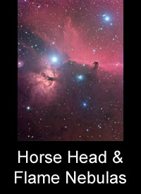 The Horse Head & Flame Nebulas